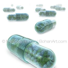 High-priced Pharmaceuticals (Lightwave 3d and PhotoShop) images and animation available for licensing