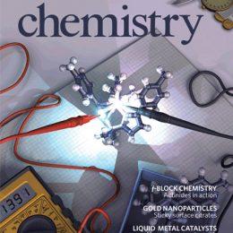 Cover Nature Chemistry 8/17 (Lightwave 3d)