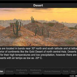 Desert Biome Interactive Module (Eon Vue, Photoshop, Flash)